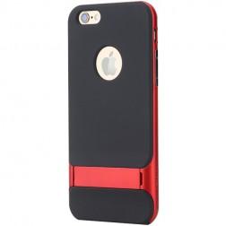 """""""Rock"""" Royce Kickstand dėklas - juodas / raudonas (iPhone 6 Plus / 6s Plus)"""