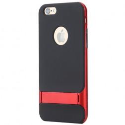 """""""Rock"""" Royce Kickstand dėklas - juodas / raudonas (iPhone 6 / 6s)"""