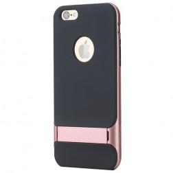 """""""Rock"""" Royce Kickstand dėklas - juodas / rožinis (iPhone 6 Plus / 6s Plus)"""