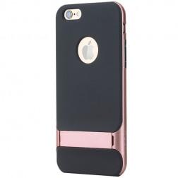 """""""Rock"""" Royce Kickstand dėklas - juodas / rožinis (iPhone 6 / 6s)"""