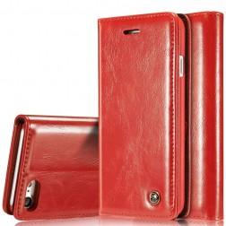"""""""CaseMe"""" solidus atverčiamas dėklas - raudonas (iPhone 7 / 8)"""
