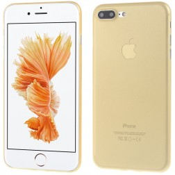 Ploniausias plastikinis dėklas - šviesiai rudas (iPhone 7 Plus / 8 Plus)
