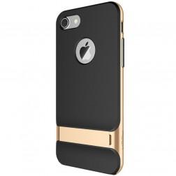 """""""Rock"""" Royce Kickstand dėklas - juodas / auksinis (iPhone 7 / 8)"""