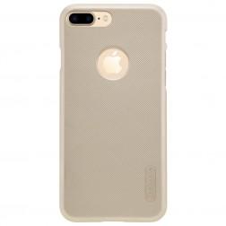 """""""Nillkin"""" Frosted Shield dėklas - auksinis + apsauginė ekrano plėvelė (iPhone 7 Plus)"""
