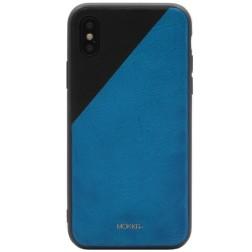 """""""MOKKA"""" Bevel Pattern dėklas - mėlynas / juodas (iPhone X)"""