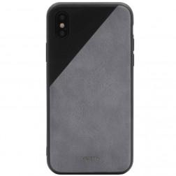 """""""MOKKA"""" Bevel Pattern dėklas - pilkas / juodas (iPhone X / Xs)"""