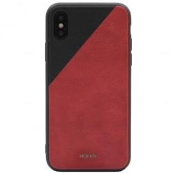 """""""MOKKA"""" Bevel Pattern dėklas - raudonas / juodas (iPhone X)"""