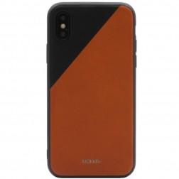 """""""MOKKA"""" Bevel Pattern dėklas - rudas / juodas (iPhone X / Xs)"""