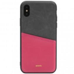 """""""MOKKA"""" Svelte dėklas su kišenėle - rožinis / pilkas (iPhone X / Xs)"""