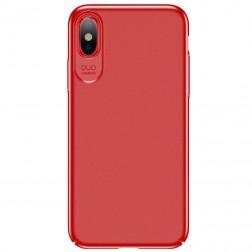 """""""USAMS"""" Jay dėklas - raudonas (iPhone X / Xs)"""