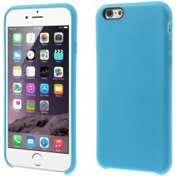 Kieto silikono (TPU) dėklas - šviesiai mėlynas (iPhone 6 / 6s)