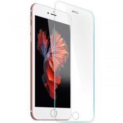 Pilnai dengiantis apsauginis ekrano stiklas su silikoniniais (TPU) apvadais (0,3 mm) - skaidrus (iPhone 6 / 6s)