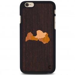 """""""Crafted Cover"""" natūralaus medžio dėklas - Latvija (iPhone 6 / 6s)"""