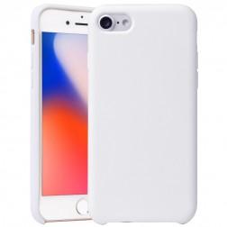 """""""Shell"""" kieto silikono (TPU) dėklas - baltas (iPhone 7 / 8)"""