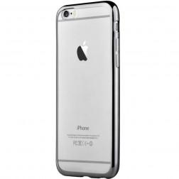 """""""Devia"""" Glitter dėklas - skaidrus, juodas + apsauginis ekrano stiklas (iPhone 7 / 8)"""