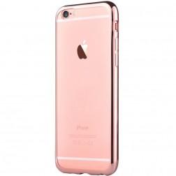 """""""Devia"""" Glitter dėklas - skaidrus, rožinis + apsauginis ekrano stiklas (iPhone 7 / 8)"""