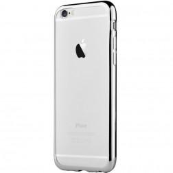 """""""Devia"""" Glitter dėklas - skaidrus, sidabrinis + apsauginis ekrano stiklas (iPhone 7 / 8)"""