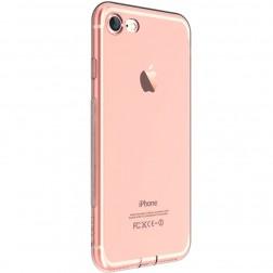 """""""Devia"""" Naked skaidrus dėklas - rožinis + apsauginis ekrano stiklas (iPhone 7 / 8)"""