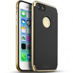 """""""IPAKY"""" kieto silikono (TPU) dėklas - juodas / auksinis (iPhone 7 / 8)"""
