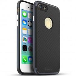 """""""IPAKY"""" kieto silikono (TPU) dėklas - juodas / pilkas (iPhone 7 / 8)"""