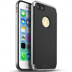 """""""IPAKY"""" kieto silikono (TPU) dėklas - juodas / sidabrinis (iPhone 7 / 8)"""