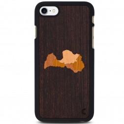 """""""Crafted Cover"""" natūralaus medžio dėklas - Latvija (iPhone 7 / 8)"""