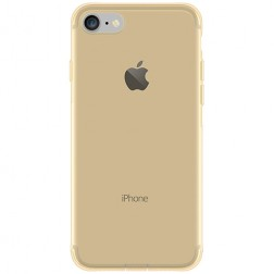 Ploniausias TPU skaidrus dėklas - šviesiai rudas (iPhone 7 / 8)