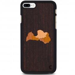 """""""Crafted Cover"""" natūralaus medžio dėklas - Latvija (iPhone 7 Plus)"""