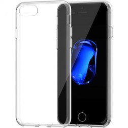 Plonas kieto silikono (TPU) dėklas - skaidrus (iPhone 7 / 8)