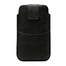 Telefono įmautė su kišenėle - juoda (L dydis)