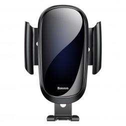 """""""Baseus"""" Future Gravity automobilinis telefono laikiklis (į groteles) - juodas"""