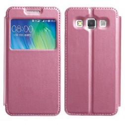 """""""Kalaideng"""" Sun atverčiamas dėklas - rožinis (Galaxy A3 2015)"""