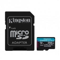 """""""Kingston"""" Cavas Go Plus MicroSD atminties kortelė - 256 Gb (10 Klasė) + SD adapteris"""