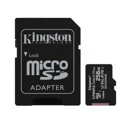 """""""Kingston"""" MicroSD atminties kortelė - 256 Gb (10 Klasė) + SD adapteris"""
