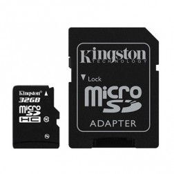 """Kingston"" MicroSD atminties kortelė - 32 Gb (10 Klasė) + SD adapteris"