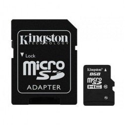 """Kingston"" MicroSD atminties kortelė - 8 Gb (10 Klasė) + SD adapteris"
