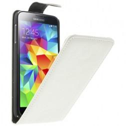 Klasikinis atverčiamas dėklas - baltas (Galaxy S5 / S5 Neo)