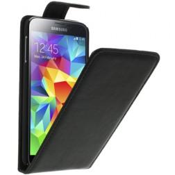 Klasikinis atverčiamas dėklas - juodas (Galaxy S5 / S5 Neo)