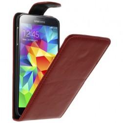 Klasikinis atverčiamas dėklas - raudonas (Galaxy S5 / S5 Neo)