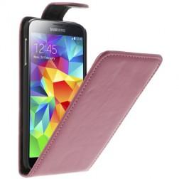 Klasikinis atverčiamas dėklas - rožinis (Galaxy S5 / S5 Neo)