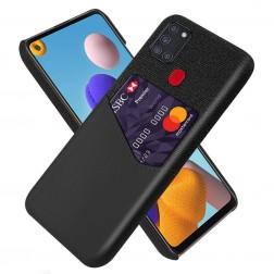 """""""KSQ"""" Shell dėklas su kišenėle - juodas (Galaxy A21s)"""