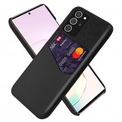 """""""KSQ"""" Shell dėklas su kišenėle - juodas (Galaxy Note 20)"""