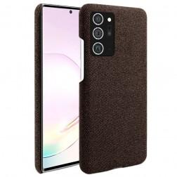 """Fashion"" kieto silikono (TPU) dėklas - rudas (Galaxy Note 20)"