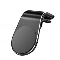 """""""L Shape"""" universalus magnetinis telefono laikiklis (į groteles) - juodas"""