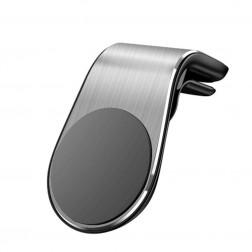 """""""L Shape"""" universalus magnetinis telefono laikiklis (į groteles) - sidabrinis"""