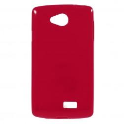 Kieto silikono (TPU) dėklas - raudonas (F60)