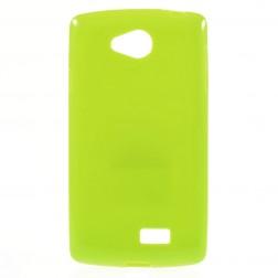 Kieto silikono (TPU) dėklas - žalias (F60)