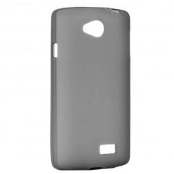 Kieto silikono matinis dėklas - pilkas (F60)
