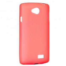 Kieto silikono matinis dėklas - raudonas (F60)