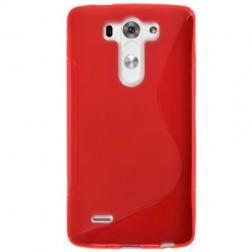 """""""S-Line"""" kieto silikono (TPU) dėklas - raudonas (G3 S)"""